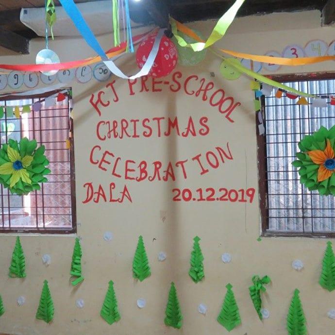 Christmas at FCJ Pre-school, Yangon, Myanmar
