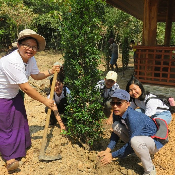 Tree planting in Myanmar FCJ Bicentenary 1820-2020