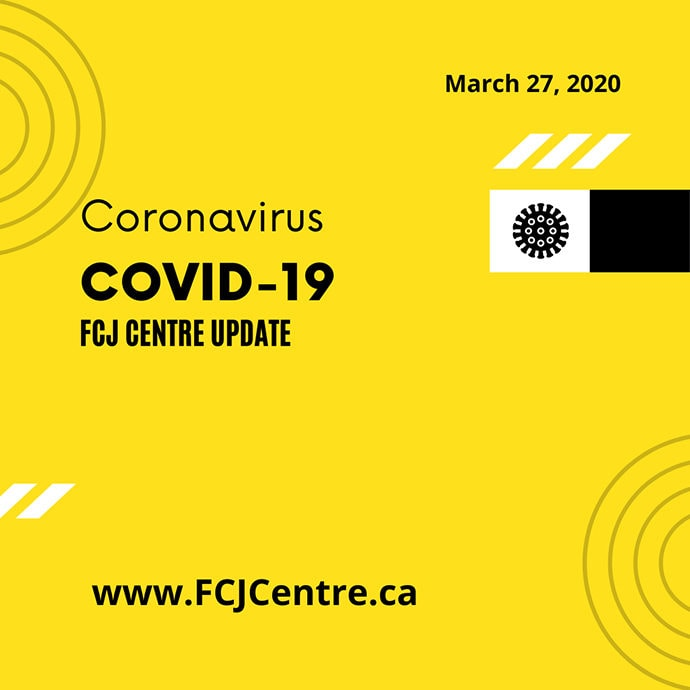 FCJ Centre Calgary during COVID-19 pandemic