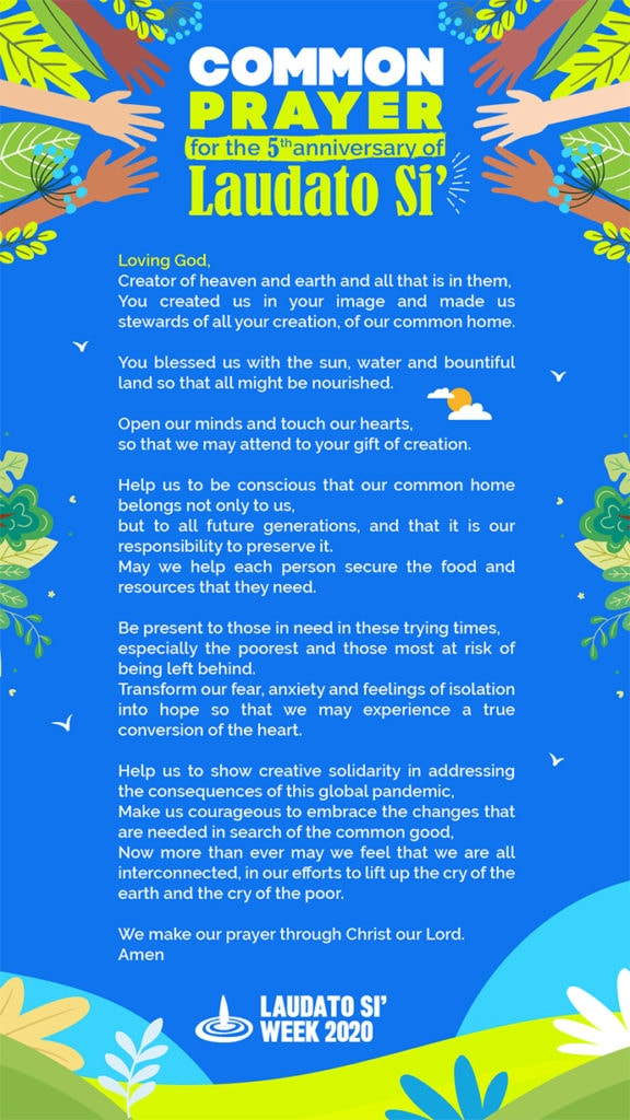 Prayer for Laudato Si week