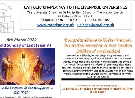 Sr Rachel Jubilee celebration at the Chaplaincy