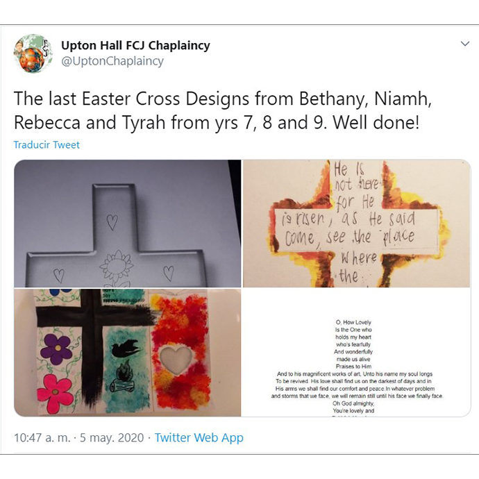 Upton Hall School Chaplaincy Twitter account
