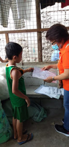Coursework modules distributed to children weekly