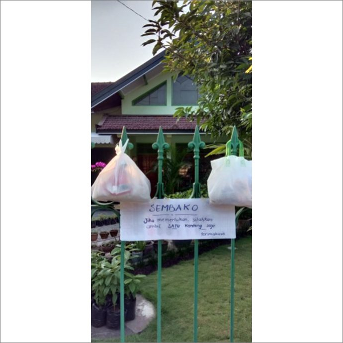 Food offering at FCJ Yogyakarta community