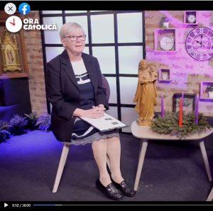 Sr Mary presenting Ora Catolica