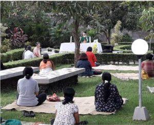 Sarasvita FCJ Centre Mass and meditation